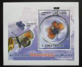 Poštovní známka Svatý Tomáš 2010 Motýli DELUXE Mi# 4557 Block
