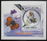 Poštovní známka Svatý Tomáš 2010 Motýli DELUXE Mi# 4558 Block