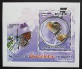 Poštovní známka Svatý Tomáš 2010 Motýli DELUXE Mi# 4560 Block