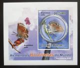 Poštovní známka Svatý Tomáš 2010 Motýli DELUXE Mi# 4561 Block