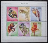 Poštovní známky Guinea-Bissau 2010 Opice Mi# 5017-22 Kat 13€