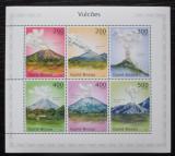 Poštovní známky Guinea-Bissau 2010 Sopky Střední Ameriky Mi# 4961-66 Kat 8€