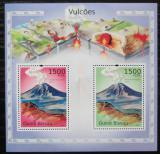 Poštovní známky Guinea-Bissau 2010 Sopky Střední Ameriky Mi# Block 859 Kat 12€