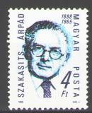 Poštovní známka Maďarsko 1988 Prezident Arpád Szakasits Mi# 4001