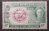 Poštovní známka Bermudy 1949 První známka, 100. výročí Mi# 124