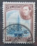 Poštovní známka Bermudy 1943 Lodě v přístavu Hamilton Mi# 102 b