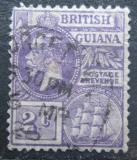 Poštovní známka Britská Guiana 1923 Král Jiří V. a fregata Mi# 142