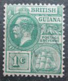 Poštovní známka Britská Guiana 1921 Král Jiří V. a fregata Mi# 140