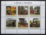 Poštovní známky Svatý Tomáš 2003 Parní lokomotivy Mi# 2302-07 Kat 11€