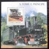 Poštovní známka Svatý Tomáš 2003 Parní lokomotivy Mi# Block 465 Kat 11€