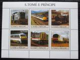 Poštovní známky Svatý Tomáš 2003 Lokomotivy Mi# 2308-13 Kat 11€