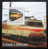 Poštovní známka Svatý Tomáš 2003 Lokomotivy Mi# Block 467 Kat 11€