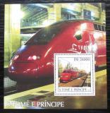 Poštovní známka Svatý Tomáš 2003 Lokomotivy Thalys Mi# Block 471 Kat 11€