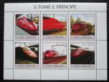 Poštovní známky Svatý Tomáš 2003 Lokomotivy Thalys Mi# 2338-43 Kat 11€