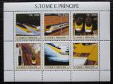 Poštovní známky Svatý Tomáš 2003 Lokomotivy Eurostar Mi# 2344-49 Kat 11€