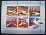 Poštovní známky Svatý Tomáš 2007 Moderní lokomotivy Mi# 3181-85 Kat 13€