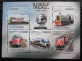 Poštovní známky Svatý Tomáš 2010 Dieselové lokomotivy Mi# 4604-08 Kat 13€