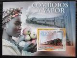 Poštovní známka Svatý Tomáš 2010 Parní lokomotivy Mi# Block 757 Kat 10€