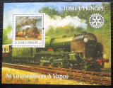 Poštovní známka Svatý Tomáš 2004 Parní lokomotivy Mi# Block 514 Kat 13€