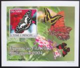 Poštovní známka Svatý Tomáš 2004 Motýli DELUXE neperf. Mi# 2603 B Block