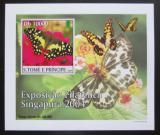 Poštovní známka Svatý Tomáš 2004 Motýli DELUXE neperf. Mi# 2605 B Block