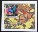 Poštovní známka Svatý Tomáš 2004 Motýli DELUXE neperf. Mi# 2606 B Block
