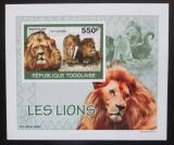 Poštovní známka Togo 2010 Lvi DELUXE neperf. Mi# 3469 B Block