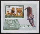 Poštovní známka Togo 2010 Lvi DELUXE neperf. Mi# 3470 B Block