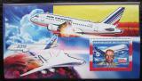 Poštovní známka Guinea 2006 Letadla Airbus DELUXE Mi# 4494 Block