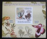 Poštovní známka Guinea-Bissau 2009 Motýli a léčivé rostliny Mi# 4127 Block