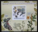 Poštovní známka Guinea-Bissau 2009 Motýli a léčivé rostliny Mi# 4128 B Block