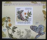 Poštovní známka Guinea-Bissau 2009 Motýli a léčivé rostliny Mi# 4129 B Block