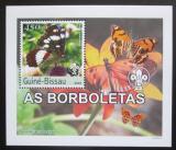 Poštovní známka Guinea-Bissau 2003 Motýli DELUXE neperf. Mi# 2483 B Block