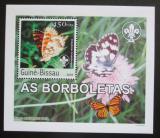 Poštovní známka Guinea-Bissau 2003 Motýli DELUXE neperf. Mi# 2484 B Block