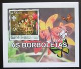 Poštovní známka Guinea-Bissau 2003 Motýli DELUXE neperf. Mi# 2485 B Block