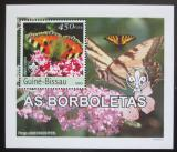 Poštovní známka Guinea-Bissau 2003 Motýli DELUXE neperf. Mi# 2486 B Block