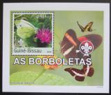Poštovní známka Guinea-Bissau 2003 Motýli DELUXE neperf. Mi# 2487 B Block