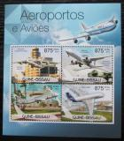 Poštovní známky Guinea-Bissau 2012 Letadla a letiště Mi# 5937-40 Kat 14€