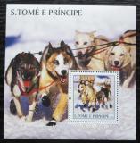 Poštovní známka Svatý Tomáš 2003 Tažní psi Mi# Block 448 Kat 11€