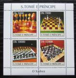 Poštovní známky Svatý Tomáš 2004 Šachy a šachovnice Mi# 2634-37 Kat 12€