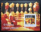 Poštovní známka Svatý Tomáš 2004 Šachy a šachovnice Mi# Block 515 Kat 13€