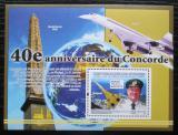Poštovní známka Guinea 2009 Concorde, 40. výročí Mi# Block 1691 Kat 10€