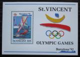 Poštovní známka Svatý Vincenc 1992 LOH Barcelona, surfing Mi# Block 205 Kat 13€