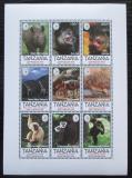 Poštovní známky Tanzánie 1995 Fauna, Sierra Club Mi# 2046-54 Kat 9€
