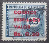 Poštovní známka Venezuela 1965 Nominál přetisk Mi# 1615
