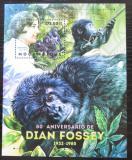 Poštovní známka Mosambik 2012 Gorily a Dian Fossey Mi# Block 687 Kat 10€