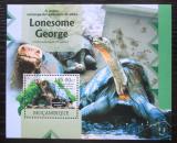 Poštovní známka Mosambik 2012 Nejstarší želva sloní pintská Mi# Block 675 Kat 10€
