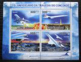 Poštovní známky Guinea-Bissau 2010 Tragédie Concorde Mi# 4900-03 Kat 14€