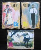 Poštovní známky Aruba 1996 Lidové kroje Mi# 175-77