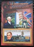Poštovní známka Guinea 2010 W. H. Harrison, 9. US prezident Mi# Bl 1883 Kat 10€